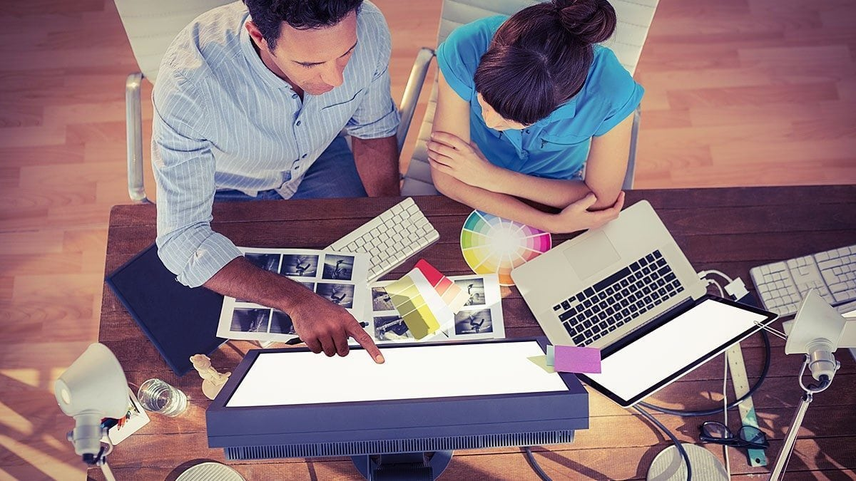 Many large companies have their own in-house web design staff.