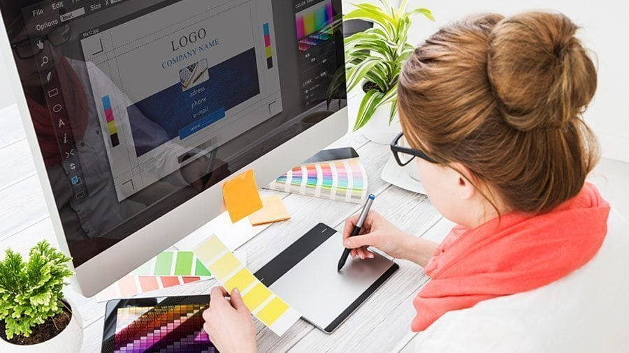 Web designers looking to a company's logo for colour palette inspiration