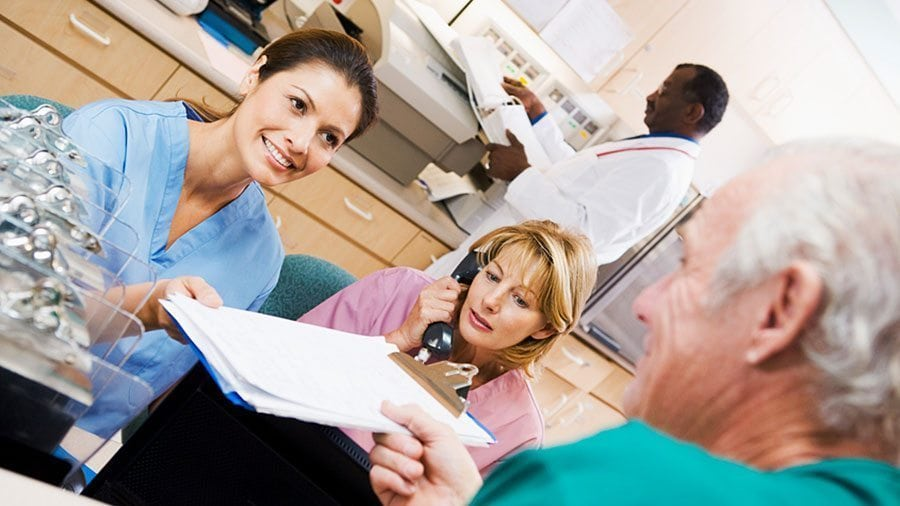 Health unit coordinators work face-to-face with patients from all walks of life