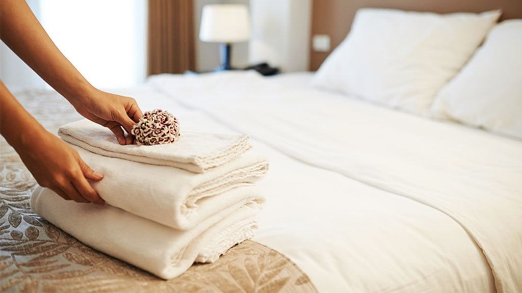 An RFID system can alert hotel management professionals when towels are being stolen